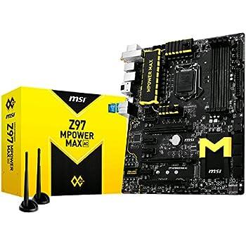 MSI ATX DDR3 2600 LGA 1150 Motherboards Z97 MPOWER MAX AC