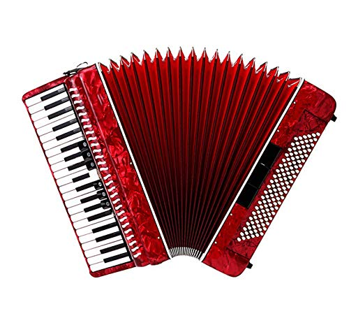 SFQNPA Red Toy Wood Accordion Musical Instrument Mini Small 41 Key 120 Bass Accordion Educational Instrument Children's Toys Children Amateur Beginner by SFQNPA