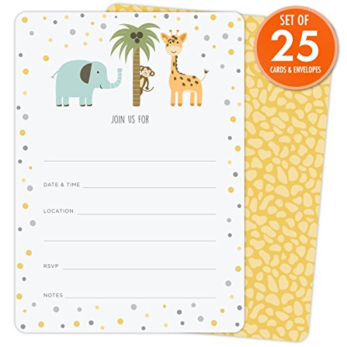 Zoo Baby Shower Invitations - 7