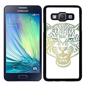 Funda carcasa para Samsung Galaxy A7 diseño leopardo colores borde negro