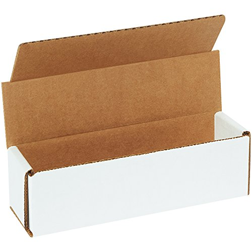 Boxes Fast BFM722 Corrugated Cardboard Mailers, 7 x 2 x 2 Inches, Tuck Top One-Piece, Die-Cut Shipping Cartons, Small White Mailing Boxes (Pack of 50)