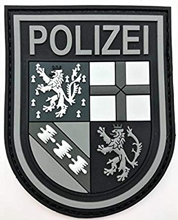 Police Saarland Black Ops Rubber Patch With Velcro Auto