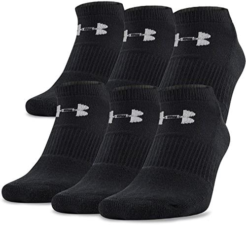 Under Armour Adult Cotton No Show Socks, 6-Pairs