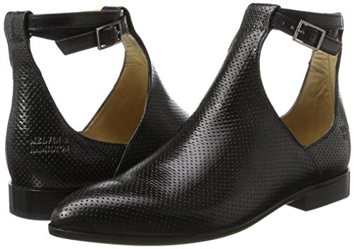 Damen Schwarz amp;h Black SHOES MELVIN black Venice M Boots CLASS Jessy amp; Chelsea Ls HAND MH HAMILTON Perfo OF 17 MADE 8OT8U