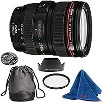Canon EF 24-105mm f/4 L IS USM DBPREMIUM Lens Bundle + High Definition U.V. Filter + Deluxe Pouch for Canon Digital SLR Cameras