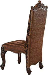 ACME Versailles 2-Tone Light Brown and Cherry Oak Side Chair Set of 2