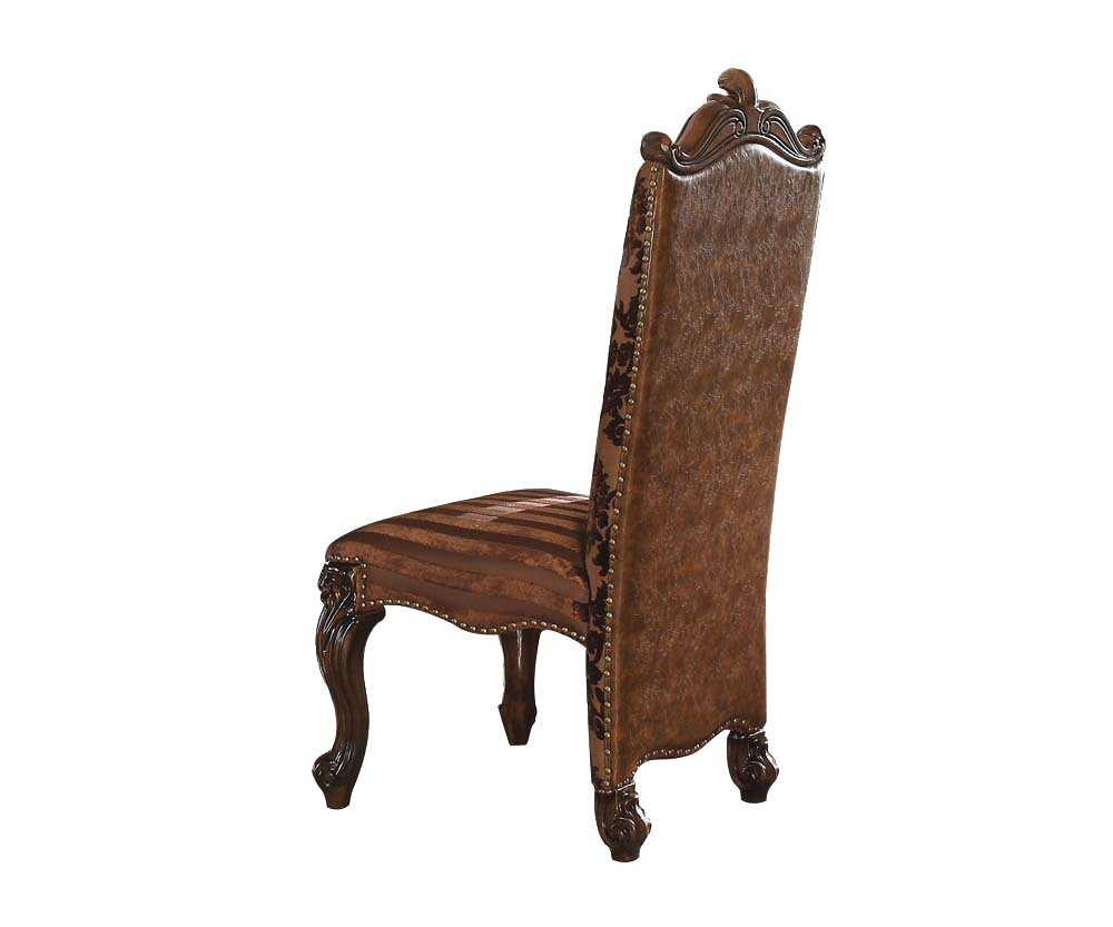 ACME Versailles 2-Tone Light Brown and Cherry Oak Side Chair Set of 2 by Acme Furniture