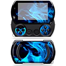Mightyskins Protective Vinyl Skin Decal Cover for Sony PSP Go System wrap sticker skins Blue Flames