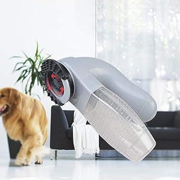 Ishero Lechón eléctrico para Mascotas Gato Perro Peine masajeador para Mascotas portátil Limpieza de Suministros para