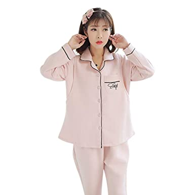 1865e6645 DAZISEN Mujer Invierno Maternidad Lactancia Pijama - Prenatal Posparto  Amamantamiento Camisón Algodón Ropa para Dormir
