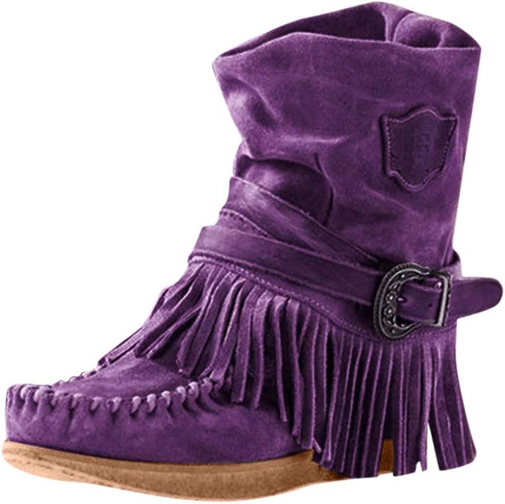 KUDICO Bottines Femmes, Bottes de Neige Franges Chaussure d