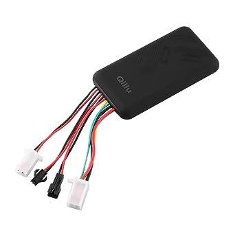 Qiilu Rastreador de GPS Localizador de monitores GSM GPRS SMS para Auto Motocicleta Scooter Vehículo Sistema de rastreo: Amazon.es: Coche y moto