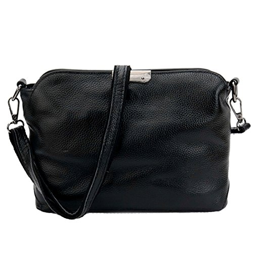 Purse black Leather Crossbody Handbag Shoulder Tophandle SEALINF Women's Genuine 4zqZZH