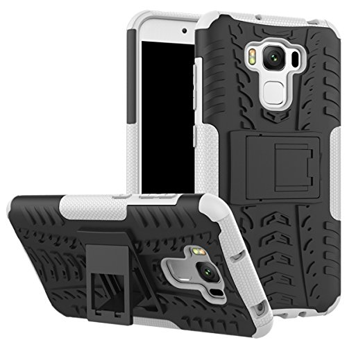 Shockproof Armor TPU/PC Case for Asus Zenfone Max (White) - 8