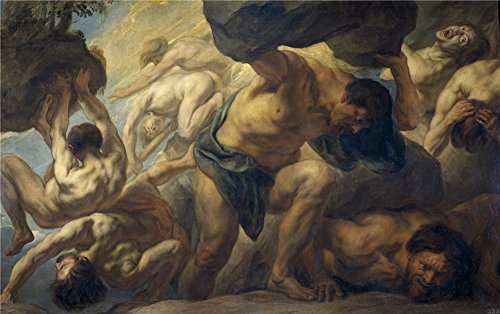 Oil Painting 'Jordaens Jacob La Caida De Los Gigantes 1636 38 ' Printing On Polyster Canvas , 10 X 16 Inch / 25 X 41 Cm ,the Best Gym Decoration And Home Decoration And Gifts Is This Amazing Art Decorative Canvas Prints - Lightning Returns Pre Order Costumes