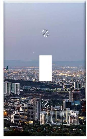 Switch Plate Single Toggle Panorama Monterrey Mexico Sunset Twilight Dusk Amazon Com