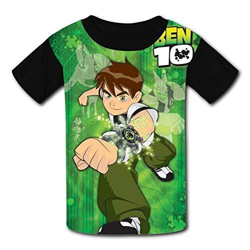 HEYheyboy Ben-Hero-10 Omniverse Kids Cute T-Shirt Short Sleeve Youth Tees for Boys Girls Black