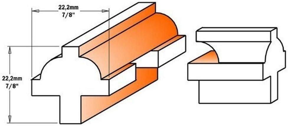 CMT Orange Tools 900.025.11/ Lonnie Bird /ESTUCHE 3/Erdbeeren f/ür T/üren HW S 8/
