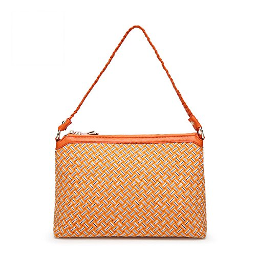 Bag Handmade Simple Messenger C Trendy Weave Handbag Ladies Wild Shoulder JPFCAK Bag 56nqRI5