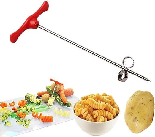 New Manual Spiral Screw Slicer Potato Carrot Cucumber Vegetables Spiral Cutter