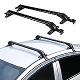 AUXMART Universal Roof Rack Cross Bars with Anti-theft Lock Fit Most 4-Door Car Sedans/SUVs/Pickups - 60KG / 132LBS Capacity