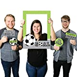 Big Dot of Happiness GOAAAL! - Soccer - Birthday Party or Baby Shower Selfie Photo Booth Picture Frame & Props - Printed on Sturdy Material