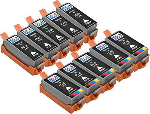 5 Colour Compatible Cartridge - Skia Pixma Pixma iP100, iP110 Compatible Ink Cartridges. 5 Blacks & 5 Colors (10 Pack)