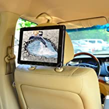 "TFY 9-Inch to 10.1-Inch Tablet PC Car Headrest Mount, Fast-Attach Fast-Release Edition, for iPad Pro 9.7"" and other 9 - 10.1 inch Tablet PCs, Beige"