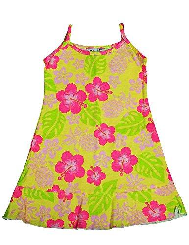 Girlfriends by Anita G Designer Clothes. - Little Girls Floral Tank Dress, Yellow, Pink, Green 11469-2T