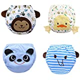 Max shape Toddler Baby Boy Pee Potty Training Pants Cute Diaper Nappy 4 Pack L