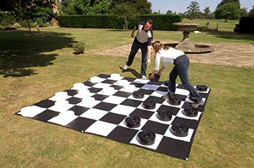 Giant Checkers Set with Giant Mat
