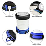 Solar iPhone USB Charger Lantern - Portable Foldable Solar Battery iPhone Charger | Water-Resistant Collapsible LED Flashlight Charger | Emergency/Hiking/Camping Lantern with USB Charger