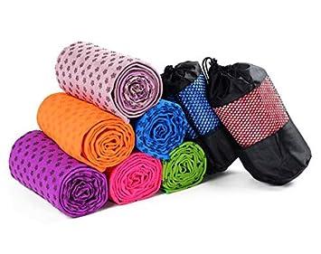 Amazon.com: 7TECH Super Soft Yoga Mats Towel, Microfiber Non ...