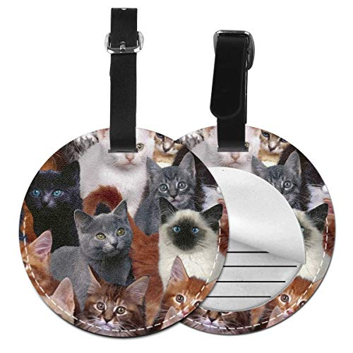 Cruise Tags Etag Luggage Bag Tags With Adjustable Wrist Strap Cat Kitten Lovely Bag Tags Luggage Tags For Women Men - Wide Suitcase Identify Label