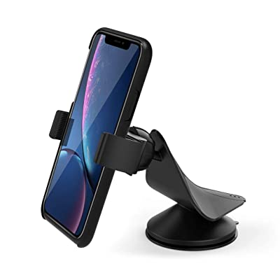 Car Mount, Arteck Universal Mobile Phone Car Mount Holder 360° Rotation for Auto Windshield and Dash, Universal for Cell Phones Apple iPhone 11, 11 Pro, 11 Pro Max, Xs, Xs Max, 8 Plus, Android, GPS