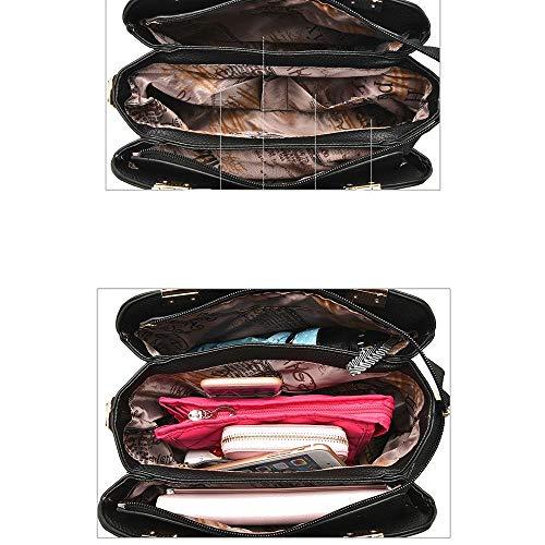 shopping cuir Belovingshop aux Élégant Woman Sac adapté Grande bandoulière et Bag voyages simple noir à en capacité bureau décontracté gris BRaBSwq