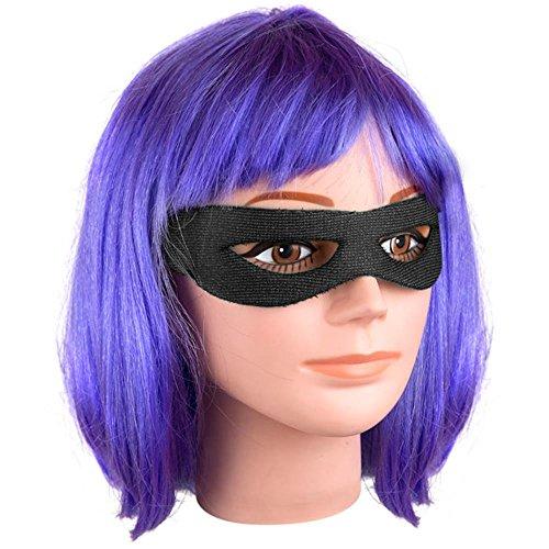 Kick Girl Wig & Eye Mask