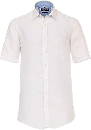 Casamoda Camisa de Lino de Manga Corta Blanca XXL, 2xl-8xl:7XL: Amazon.es: Ropa y accesorios