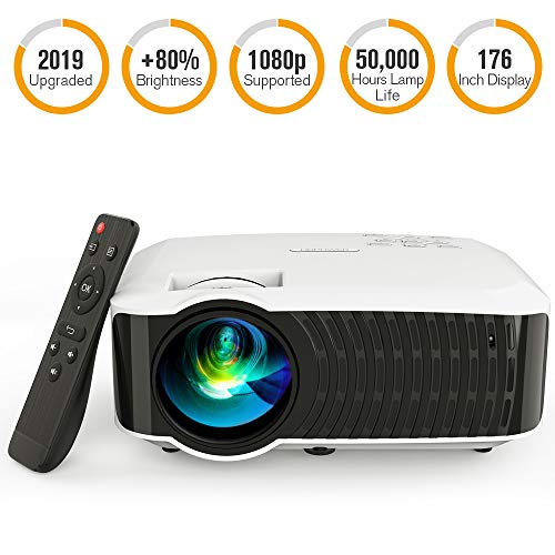 Movie Projector, DBPOWER 120 ANSI LCD Video...