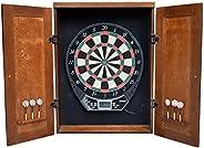 Hathaway Brookline Electronic Dartboard Cabinet Set, Walnut