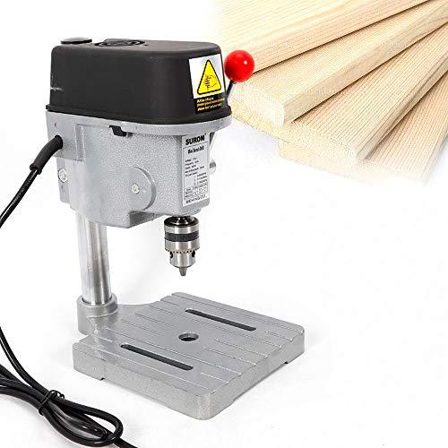 Mini Bench Drill, Mini Compact Wood Drilling Machine Multipurpose Portable 340W Drill Press Workbench for DIY Furniture (USA Stock)