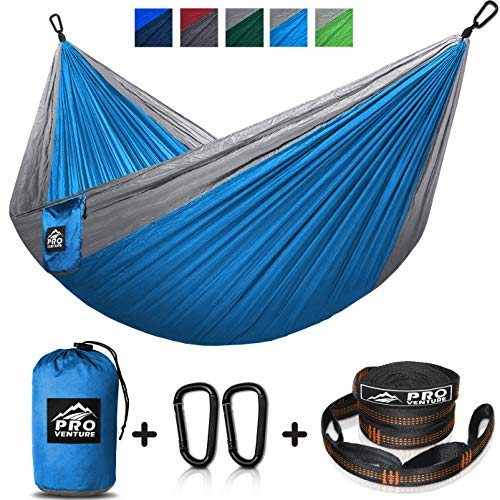 - Double and Single Camping Hammocks - Hammock with Free Premium Straps & Carabiners - Lightweight and Compact Parachute Nylon. Backpacker Approved and Ready for Adventure!