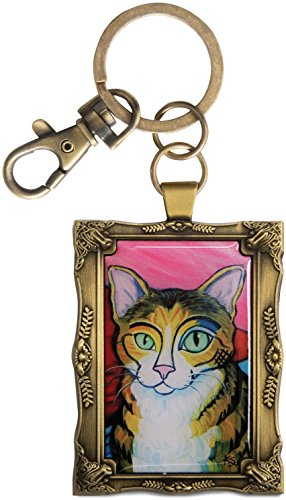 Palette Framed (Paw Palettes Golden Framed Brown Tabby Cat Key Chain)