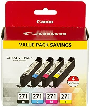 Canon CLI-271 BK/CMY 4 Color Value Pack  Compatible to MG6820