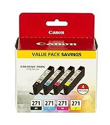 Canon CLI-271 Value Ink Pack for, MG7720, MG6820, MG5720, TS9020, TS8020, TS6020, TS5020 Printers