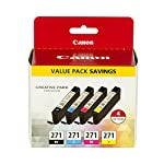 Canon CLI-271 Value Ink Pack for, MG7720, MG6820, MG5720, TS9020, TS8020, TS6020, Printers TS5020