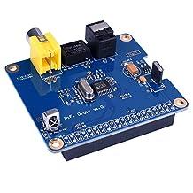 Kuman SC07 Raspberry Pi HIFI DiGi+ Digital Sound Card I2S SPDIF Optical Fiber for Raspberry pi 3 2 model B B+
