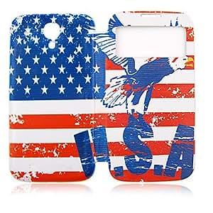 EE.UU. Eagle Plastic Lleno de Administración para su Samsung i9500 Galaxy S4