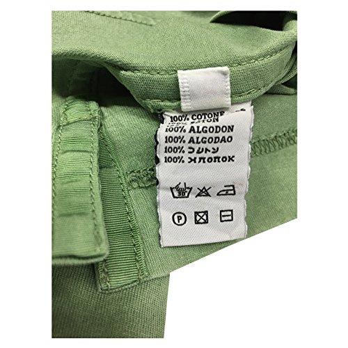 DELLA CIANA polo uomo mezza manica con taschino verde chiaro mod 71/47613L 100% cotone