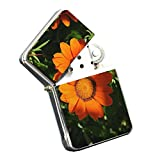 Daisy Orange Beauty - Silver Chrome Pocket Lighter by Elements of Space